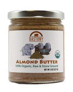 Stone Ground Organic Raw Almond Butter - 8 oz