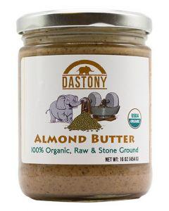 Stone Ground Organic Raw Almond Butter -16 oz