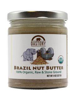 Stone Ground Organic Raw Brazil Nut Butter - 8 oz