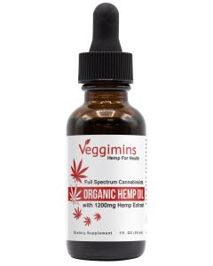 Veggimins Organic Hemp Oil with Hemp Extract - 1200 mg