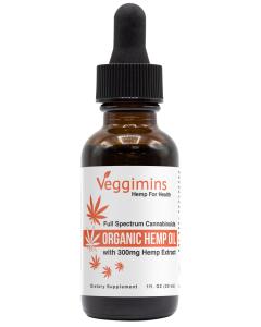 Veggimins Organic Hemp Oil with Hemp Extract - 300 mg
