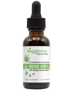 Veggimins Organic Hemp Oil with Hemp Extract - 60 mg