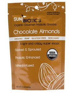 Sunbiotics Chocolate Probiotic Almonds - 1.5 oz