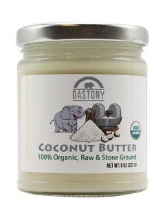 Stone Ground Organic Raw Coconut Butter - 8 oz