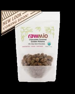 Rawmio Chocolate Covered Golden Raisins - 2 oz