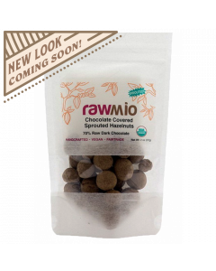 Rawmio Chocolate Covered Sprouted Hazelnuts - 2 oz