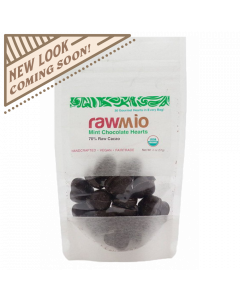 Raw Chocolate Hearts - Mint - 2oz