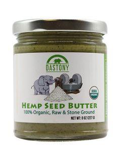 Stone Ground Organic Raw Hemp Seed Butter - 8 oz