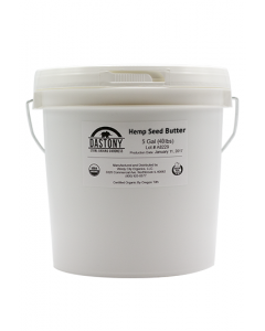 Dastony Organic Stone Ground Hemp Seed Butter - 5 Gallons