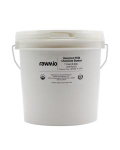 Rawmio Crunch - Beyond Gourmet Raw Milk Chocolate Hazelnut Spread - 1 Gallon