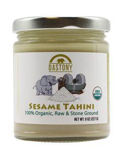 Stone Ground Organic Raw Sesame Seed Butter - 8 oz