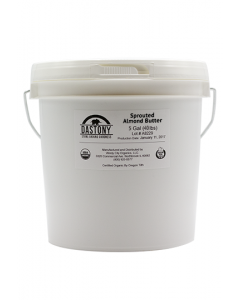Dastony Organic Raw Sprouted Almond Butter - 5 Gallons