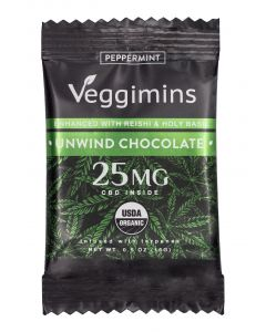 Veggimins Unwind CBD Chocolate Bar with Terpenes - 25 mg