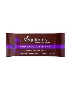 Veggimins Raw Chocolate Bar with CBD + Superfoods - 50 mg - 1.1 oz
