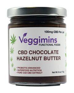 Veggimins Hemp CBD Chocolate Hazelnut Butter - 6 oz