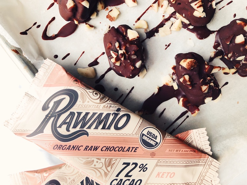 Raw Chocolate Covered Stuffed Dates