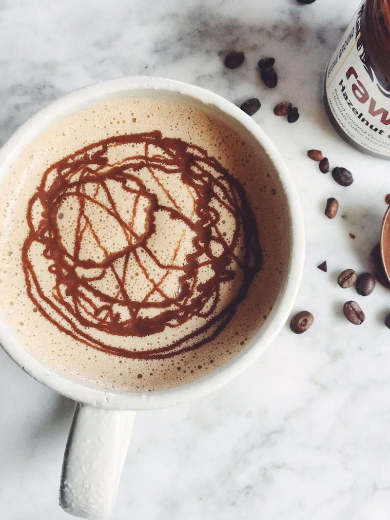 Vegan Chocolate Hazelnut Mocha Latte