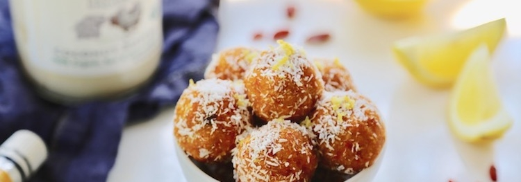Goji Berry Lemon Coconut Bliss Balls