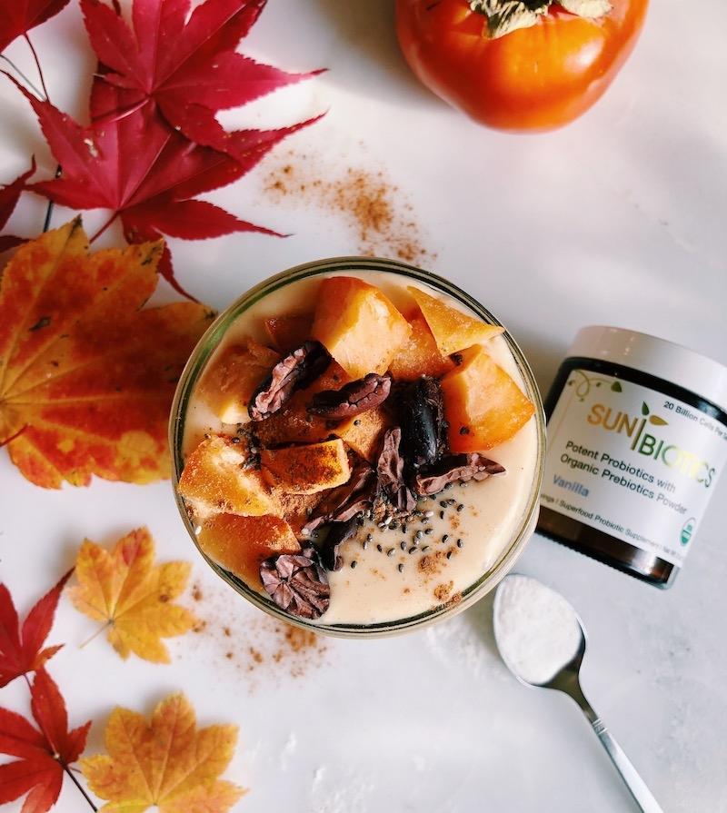 Gut Healthy Persimmon Coconut Eggnog Shake