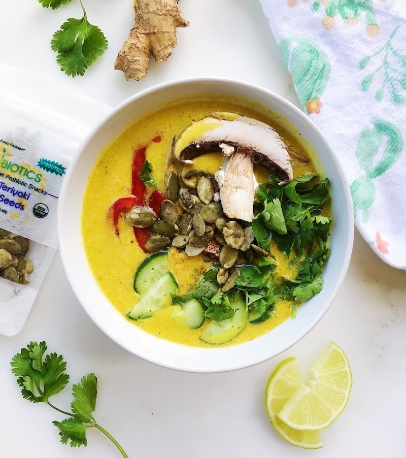 Vibrant Raw Thai Coconut Soup