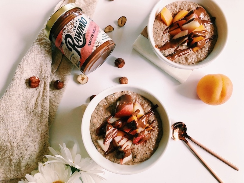 Toasty Rawmio Chocolate Chia Pudding